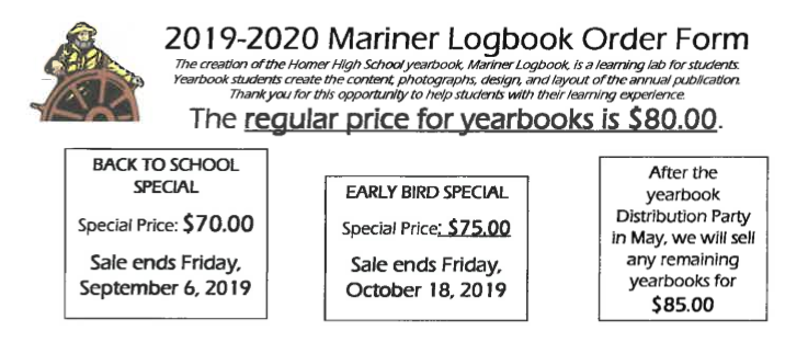 2019-20 Yearbook order forms